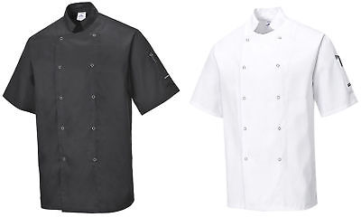 Portwest C733 Cumbria Chef Jacket Short Sleeved | Kitchen Catering Uniform
