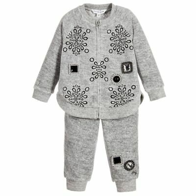 Little Marc Jacobs Baby Girls Grey Velour Tracksuit 3 Years