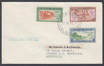 1946 Tokelau Islands FDC to Australia
