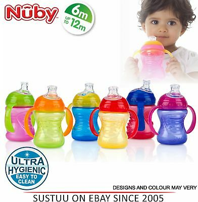 Nuby Simply Grip n Sip Baby Click it & Sippy Non Spill Toddler Training Cup +6m
