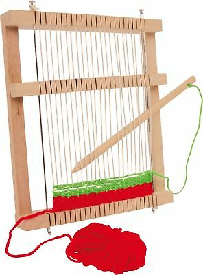 NEW MIRA WOODEN WEAVING LOOM WEAVE WITH SHUTTLE. Inc. WOOL LEGLER RETRO 6889