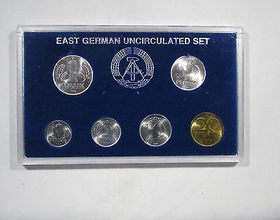 East Germany. Democratic Republic of Germany 1982-1990 Mixed 6 coin set