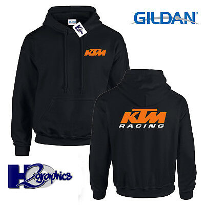 New Mens KTM Racing Tribute Hoodie Hooded Top Black Sizes Small to 2XL