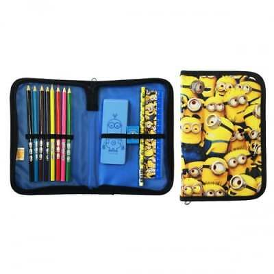 OFFICIAL Despicable Me Single Zip Filled Pencil Case - Stationary Set