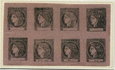 CORRIENTES ARGENTINA rare EARLY old OFFICIAL 1879 REPRINT STAMPS PANE # 57074