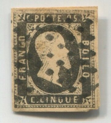 SARDINIA ITALY STATE old rare EARLY FAKE Forgery STAMP FORGERIE # 44849