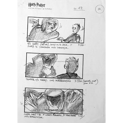 HARRY POTTER AND THE PRISONNER OF AZKABAN Storyboard   - 15x21 in. - 2004 - Alfo