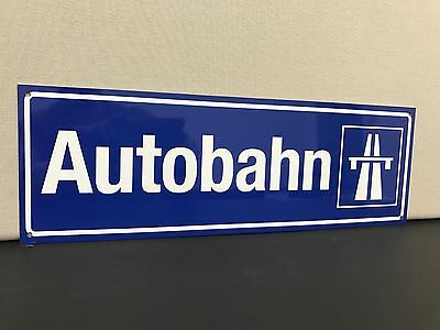 Autobahn road sign German European Porsche BMW Mercedes Audi vw 18""