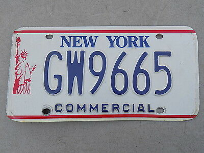 1986 - 2000 New York Commercial License Plate GW9665 Statue of Liberty ~FreeShip