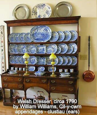 AN ORIGINAL WELSH DRESSER MADE BY WILLIAM WILLIAMS of CIL-Y-CWM, CIRCA,1780-1820