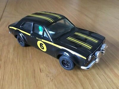 Scalextric C52 Ford Escort Mexico Black #6 Excellent  Unboxed
