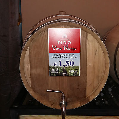 20 LITRI di  Vino ROSSO SICILIA  sfuso in bag end box  vol 13.00 %