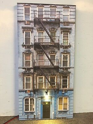 """*O Scale Scratch Built """"APARTMENT #1"""" LED Building Front Flat MTH Lionel NEW!"""
