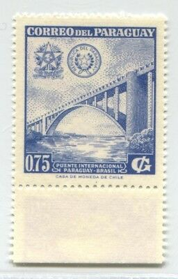 Bridge Paraguay Rare Variety Double One Inverted Print Stamp # 48886