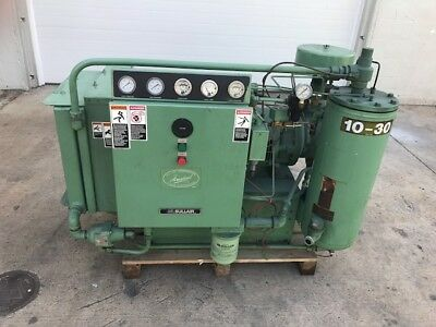 Used Sullair Model 10B-30 Rotary Screw Air Compressor Low Hours