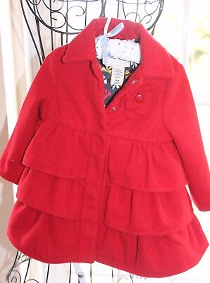 Beautiful and Chic Red Toddler Coat / Jacket; Little Girls' 18 months
