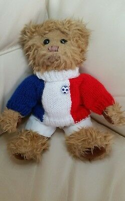 Russia World Cup 2018 ! - French Flag Hand Knitted Jumper & White Shorts - teddy