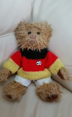 Russia World Cup 2018 ! - German Flag Hand Knitted Jumper & White Shorts -Teddy