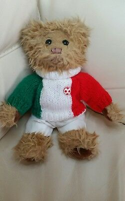 Russia World Cup 2018 !- Italian Italy Flag Jumper & White Shorts for Teddy Bear