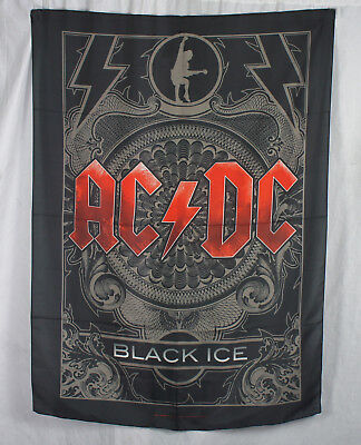 Authentic AC/DC Black Ice High Quality Silk-Like Fabric Poster Flag NEW