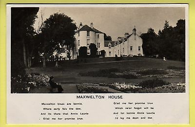 Dumfriesshire - Maxwelton House - Real Photo Postcard - 1950