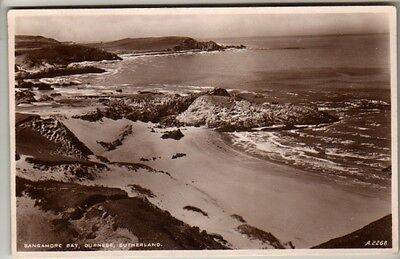 Sutherland - Durness, Sangamore Bay - Real Photo Postcard 1938