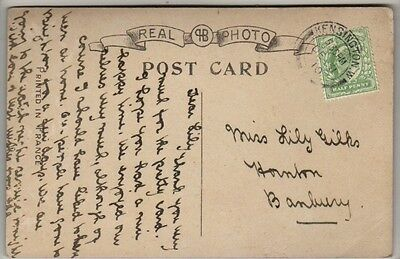 Double Circle Postmark - Kensington W. - 1910 - KEVII - PC New Year