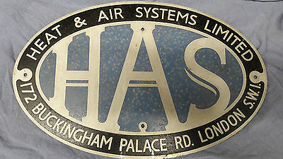 Antique Vintage Sign Heat & Air Systems 172 Buckingham Palace Road Sw1