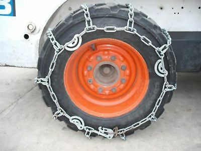 CASE HARDENED 10x16.5 10 16.5 skid steer loader tire snow traction chains(pair)