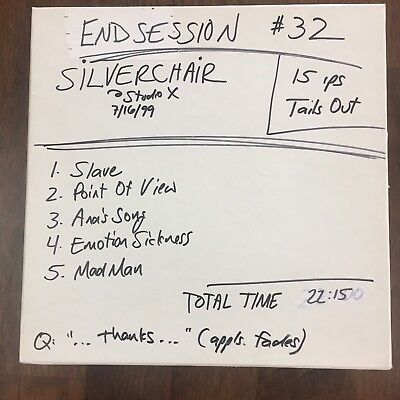Silverchair End Session 1999 Original Broadcast Radio Tape Reel Seattle KNDD WOW