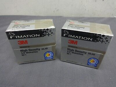 "Two Boxes Imation 2.0MB High Density DS HD 3.5"" Unformatted Diskettes 12513"