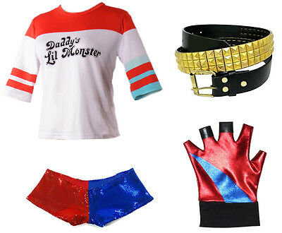 Harley Quinn Suicide Costume Accessory Kit Harley Quinn Fancy Dress & Tights