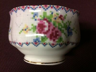 Royal Albert England Petit Point Bone China Open Sugar Bowl