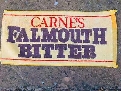 Carne's Falmouth Bitter  Beer towel from 1970s