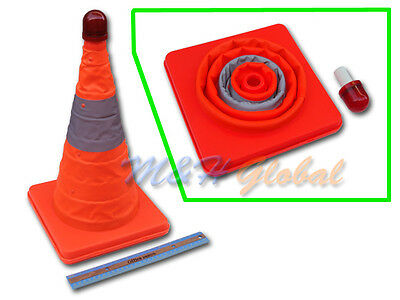 """18"""" Collapsible Safety Security Traffic Cone With Light"""