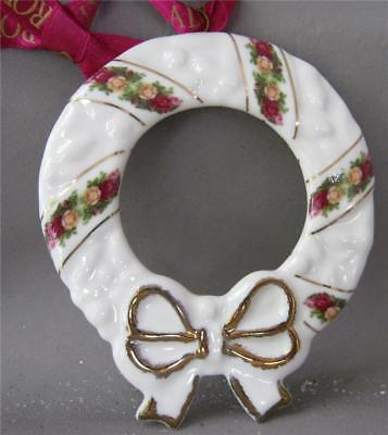 Royal Albert Old Country Roses Porcelain Ornament Christmas Wreath New In Box