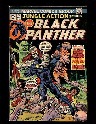 Jungle Action #9 VG+ Kane Esposito Buckler Janson Black Panther 1st Baron Macbre