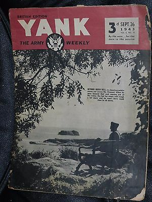 Yank Magazine Army Weekly Sept 26 1943 Wwii British Edition Alexis Smith Pinup