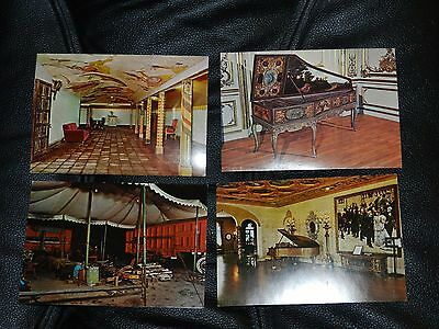 Vintage 4 Postcards Ringling Museum Of The Circus & Residence  *clean*