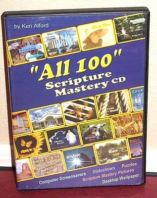 """""""All 100"""" Scripture Mastery on CD-Rom by Ken Alford LDS Mormon Missionary Prep!"""