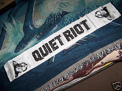 NEW NOS Vintage 80s QUIET RIOT Scarf Flag Wall Hanging Banner Tapestry Art Rare