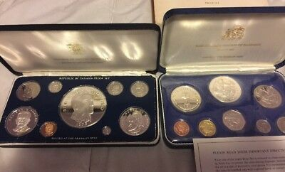 Sterling Silver Coin Sets Panama And Barbados (Mint Coin Sets)