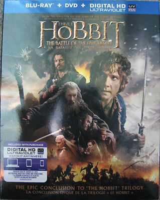 The Hobbit The Battle Of The Five Armies Slipcover Only No Discs Martin Freeman