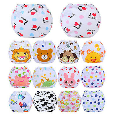 Baby Adjustable Washable Reusable Cloth Diaper Pocket Nappy Cover Wrap Pants