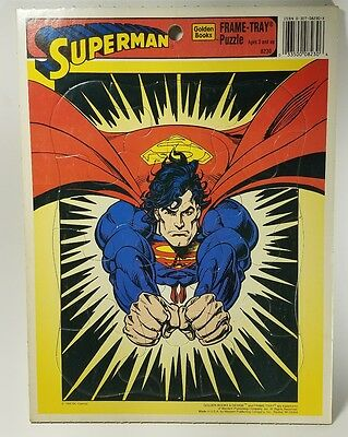 Superman - Frame Tray Puzzle - Golden Books - 1995