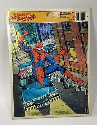 The Amazing Spider-Man Frame Tray Puzzle Golden Marvel 1990