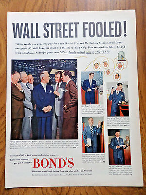 1951 Bond's Ad Berley Stocker of Abbott Proctor & Paine Wall Street Executive