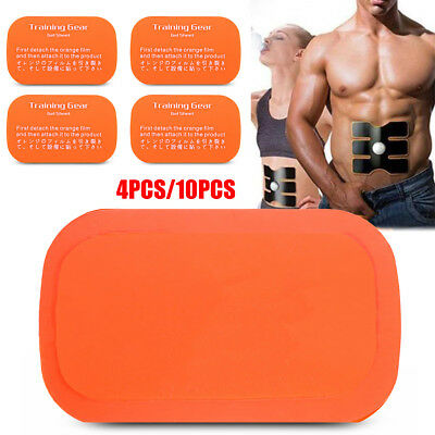 4/10pcs Replacement Gel Sheet Pad For Muscle Training Gear ABS Body Fit Fitness