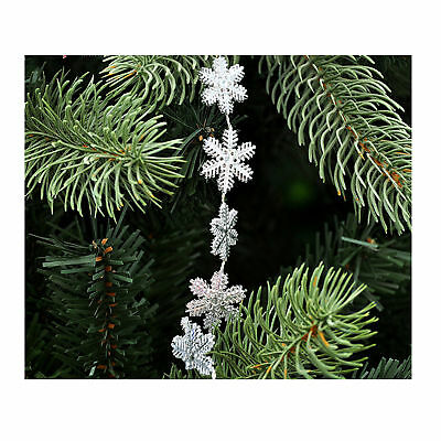 2m snowflakes hanging garland christmas tree xmas tinsel string chain decoration