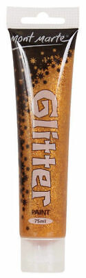 Mont Marte Glitter Paint 75ml Tube - Gold